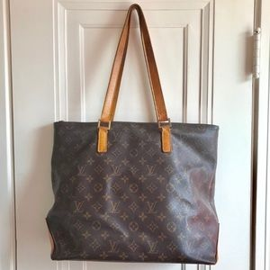Louis Vuitton Cabas Mezzo Shoulder Bag